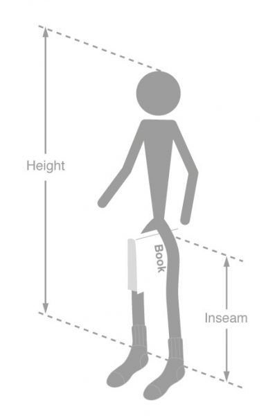 Inseam and height measurement goRide