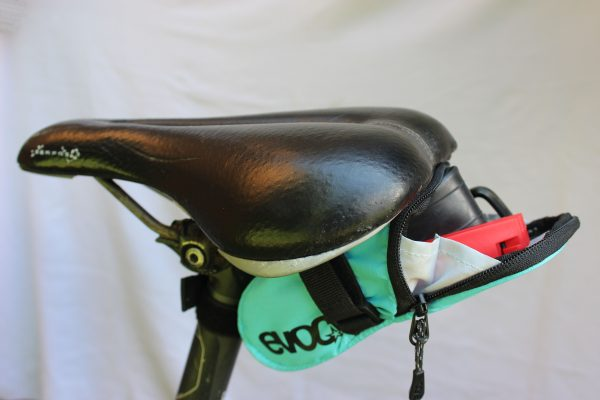 seat bag with tools on the bike goRide