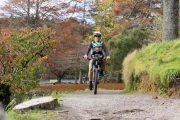 Mountain Bike Seat & Toddler Helmet - bike path riding