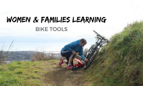 Women & Families Learning Bike Tools landscape