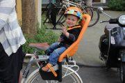 rear frame mount seat & toddler helmet - town riding