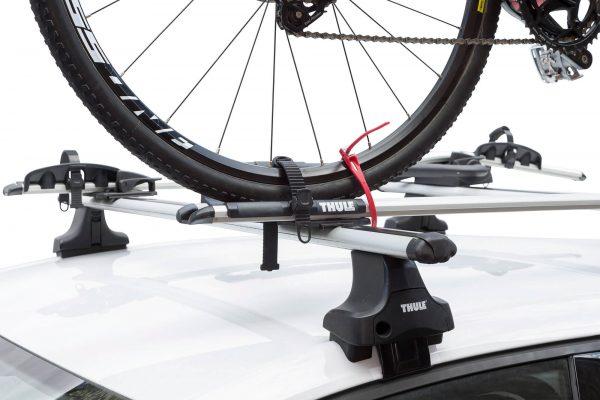 HipLok Z on bike rack. goRide