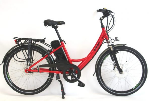 Electric Bike. Using a bike as transport. goRide