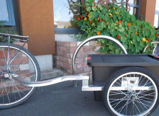 Light Weight Bucket Bike Trailer. goRide