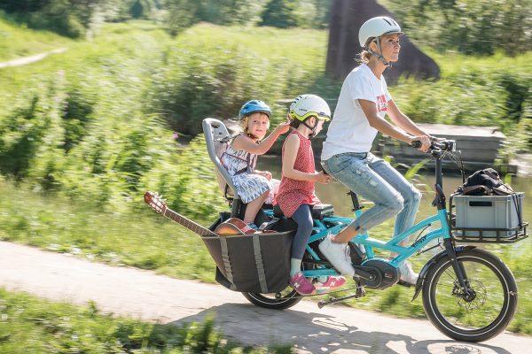 Long tail cargo bike. Bike as transport. goRide
