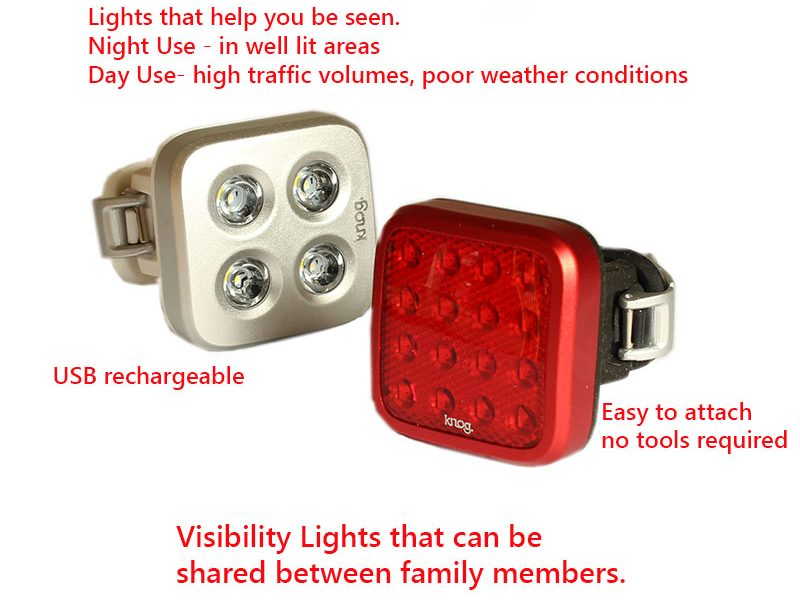 Twon riding - visibility lights