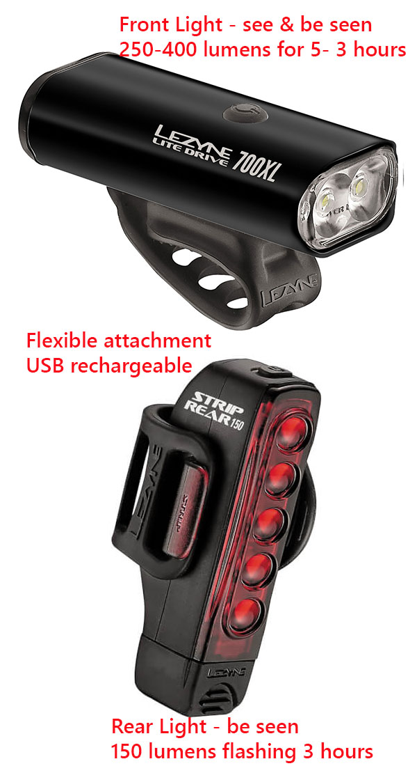 night riding light set vertical
