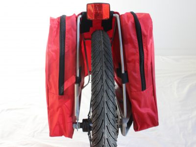 WeeHoo Turbo panniers attached to rear frame. goRide