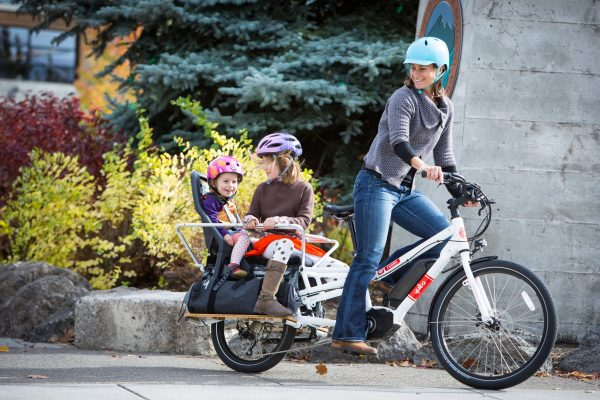 YUBA cargo bike. Family transport. goRide