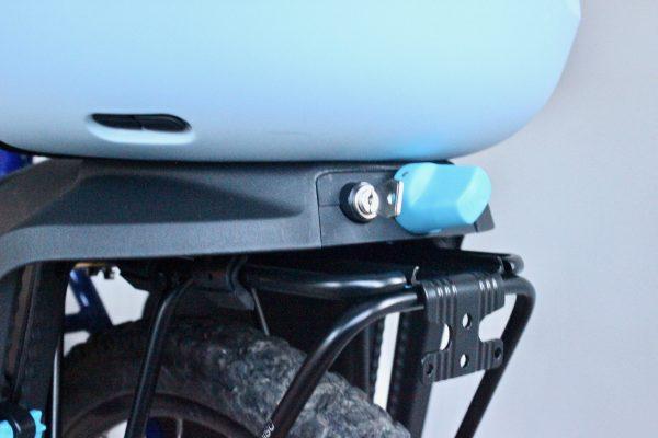 Thule Yepp Maxi clamp attachment onto rear carrier. goRide