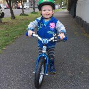 First to ride - BYK balance bike