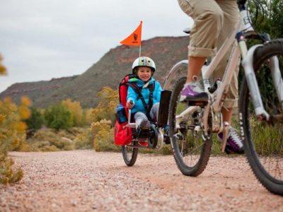 Weehoo with kid riding