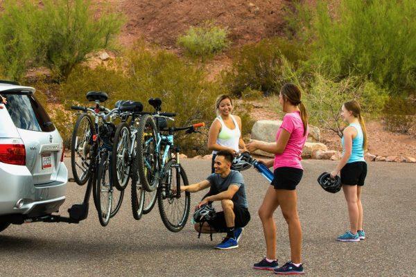 Multiple Bikes on Bike Rack. Family Bike Locks. goRide