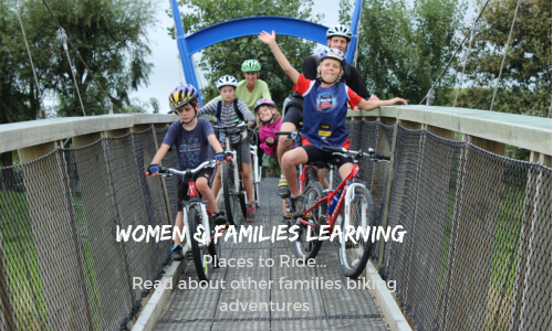 Women and Families Learning Places to Ride