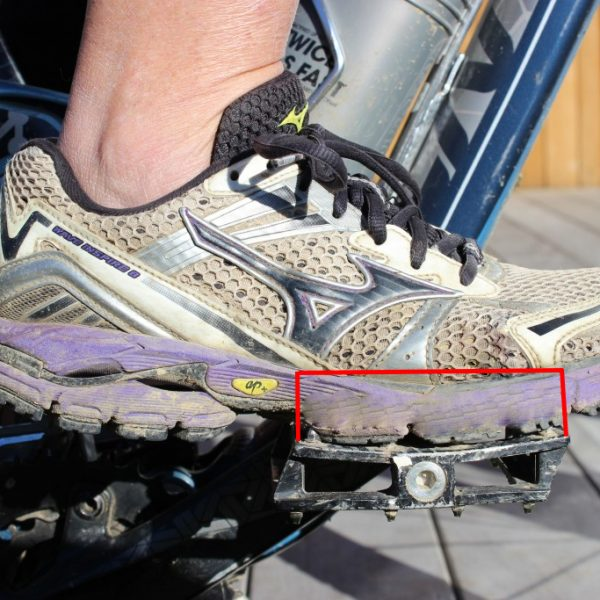 Foot placement on the pedal goRide