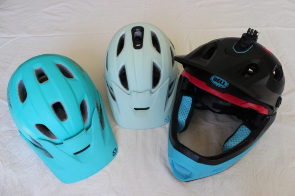 Three performance helmets. goRide