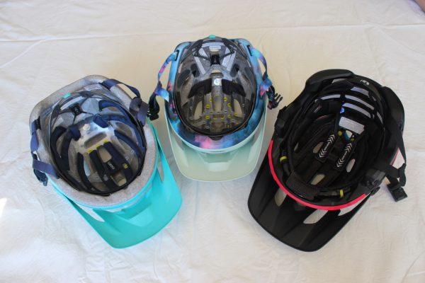 Liner of 3 performance helmets. goRide