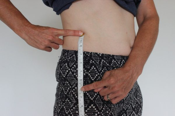 waist & hip measurement points. Padded bike pants. goRide