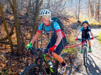 Tow Rope in Mountain Bike setting. goRide