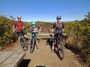 Mountain bike helmet & glove combo - family riding