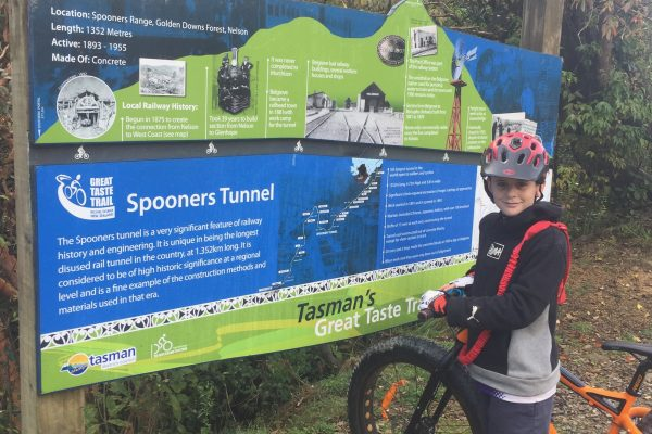 Spooners Tunnel Information Board