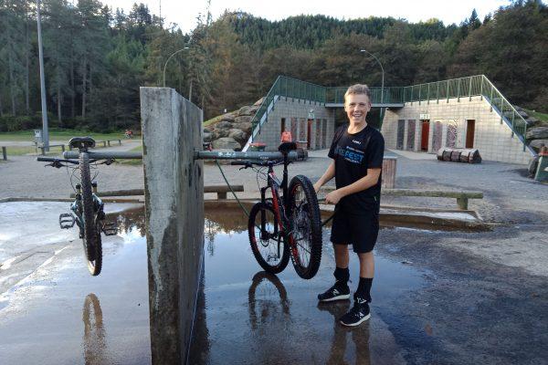 Biking cleaning station Rotorua Mountain Biking Park