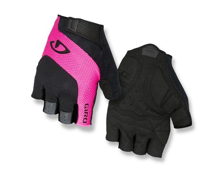 Giro Tessa Gel. Fingerless Endurance Glove. Pink Stripe. goRide