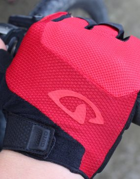 mens fingerless endurance glove on handlebar.goRide