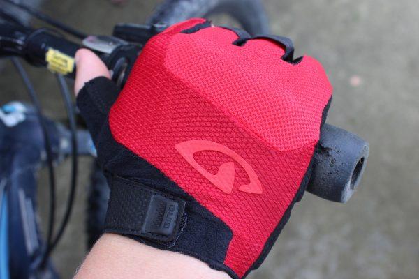 mens fingerless endurance glove on handlebar.goRide