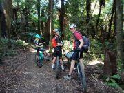 Kids backpack & mountain bike helmet - multi day riding