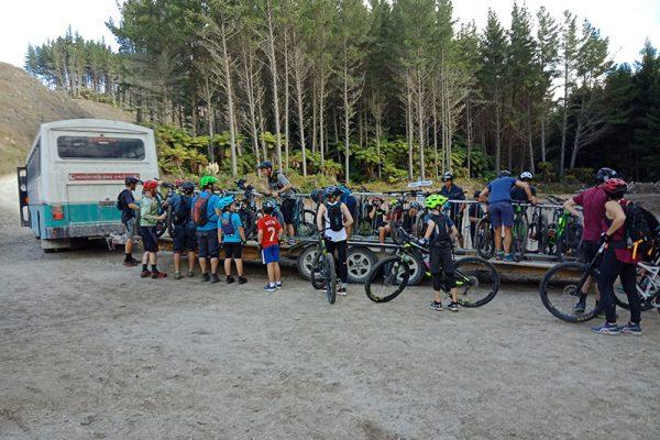 Shuttle and bike trailer Rotorua Mountain Biking park goRide
