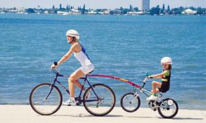 Bike tow Bar in use. goRide