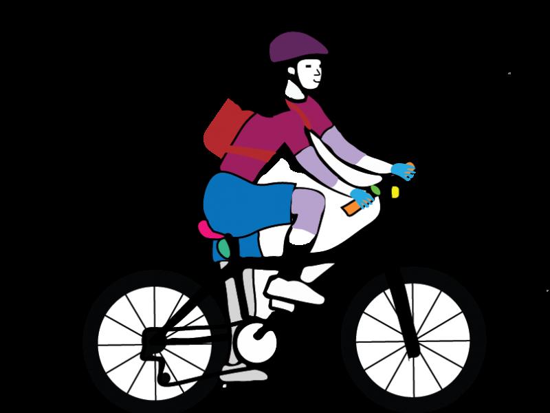 Woman Mountain Biker V1