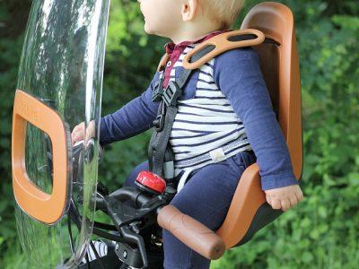 BoBike Mini One. Child in seat.goRide