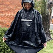 Waterproof poncho for town riding and more - waterproof