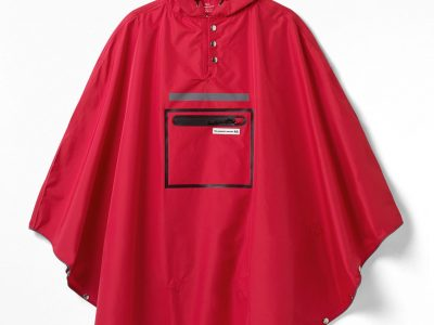 Red Town Poncho. goRide