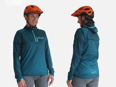 Front and back packable Jacket grey background