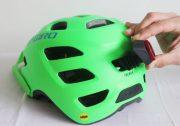 youth mountain bike helmet & vent light