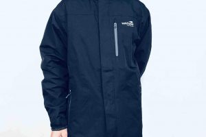Youth waterproof jacket. Navy blue. goRide
